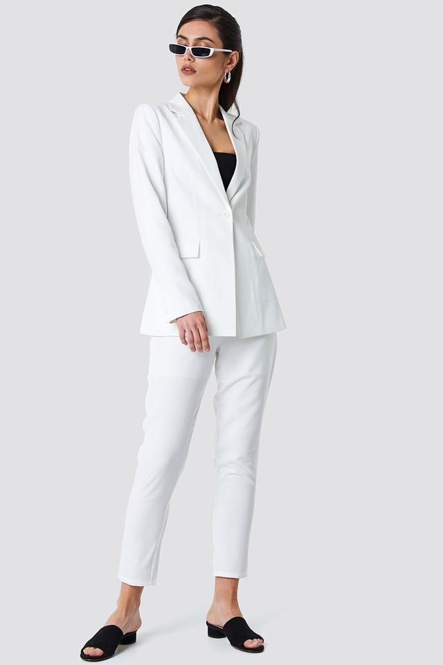White Tailored Suit Outfit