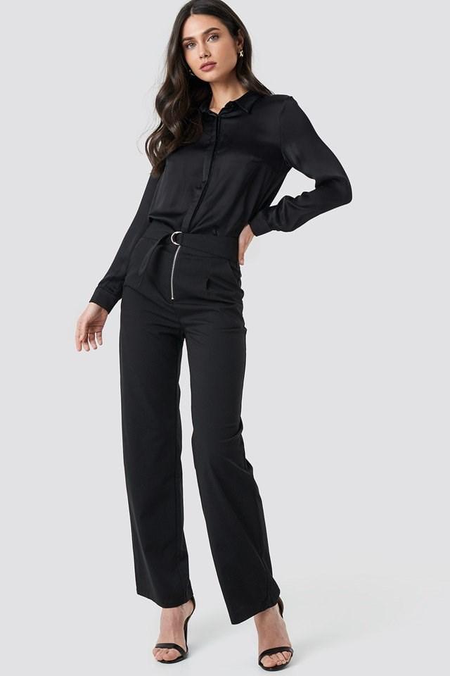 High waist pants outfit.