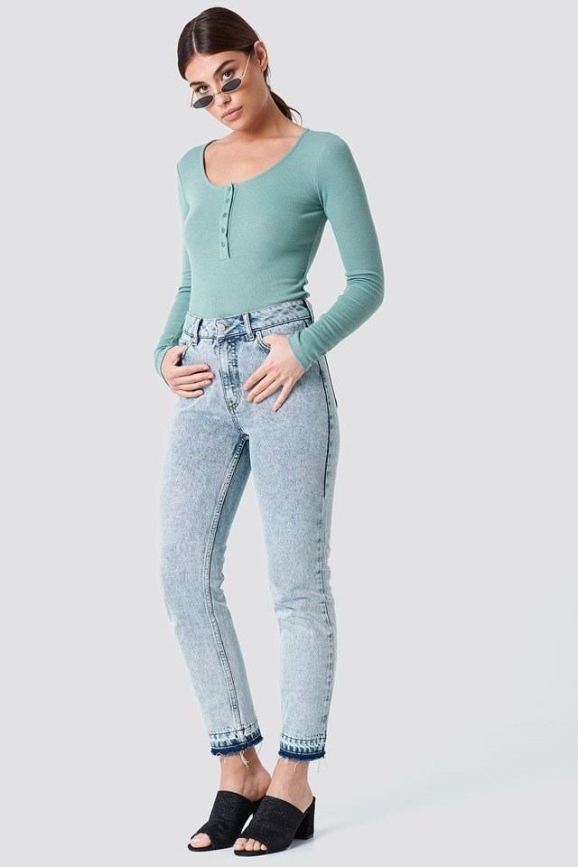 Washed Denim with Basic Top