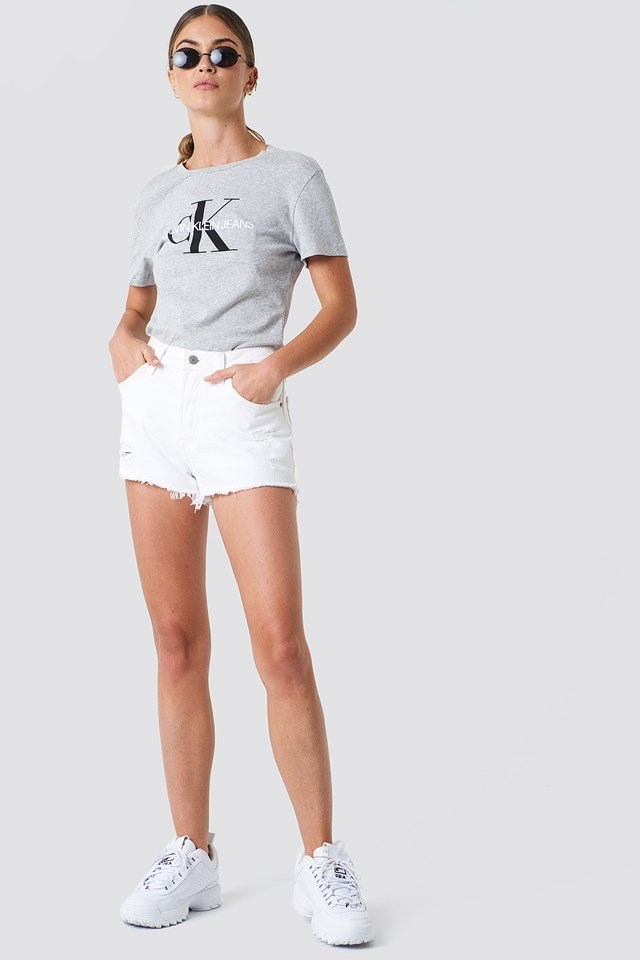 Washed Short with Branded Top