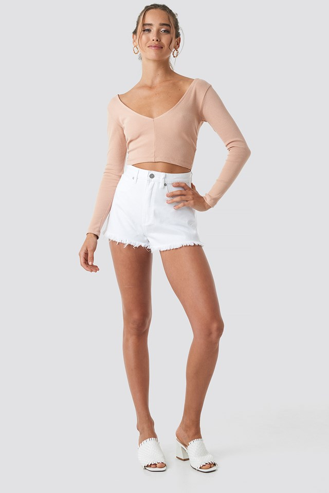 A High Relaxed Short White Wash
