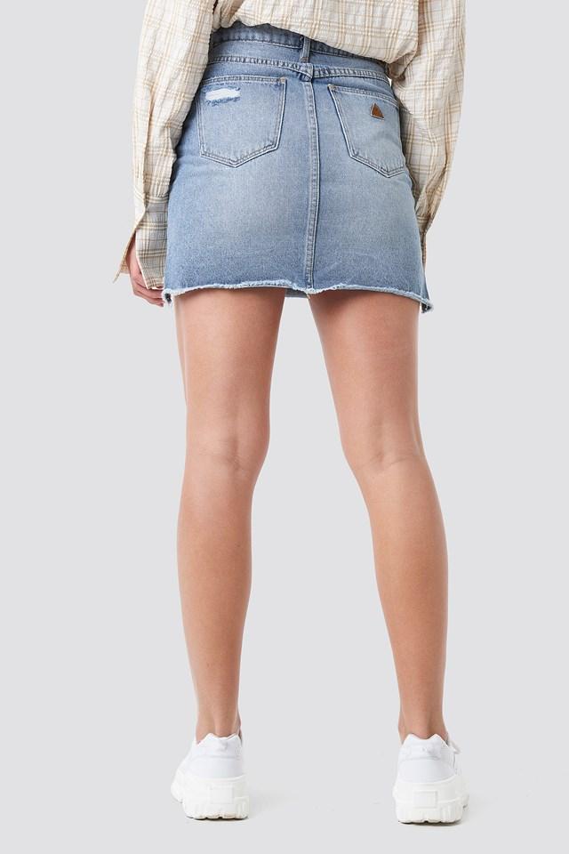 A Skirt Vintage Blue