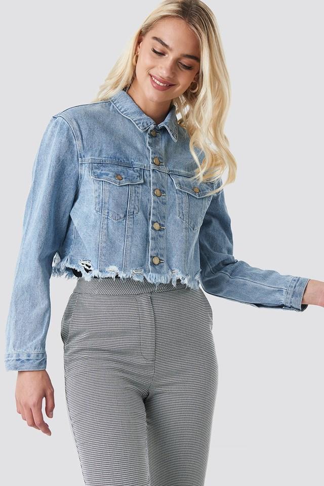 A Cropped Denim Jacket Del Rey