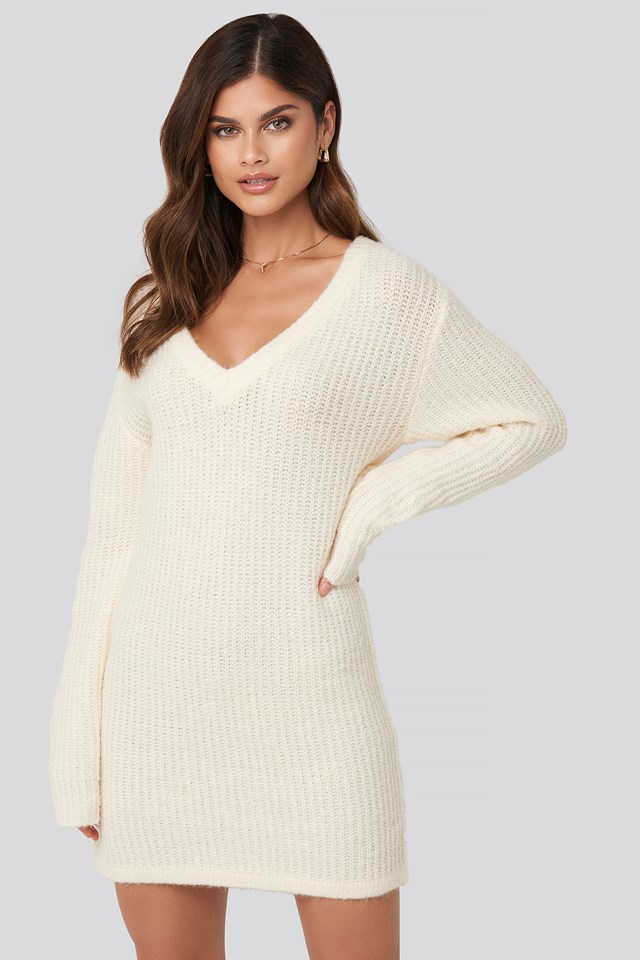 Oversized Knitted Dress Adorable Caro x NA-KD