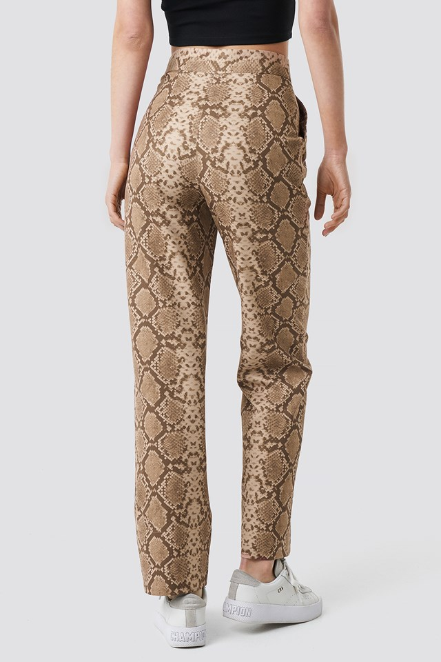 Straight Fit Suiting Pants Snake