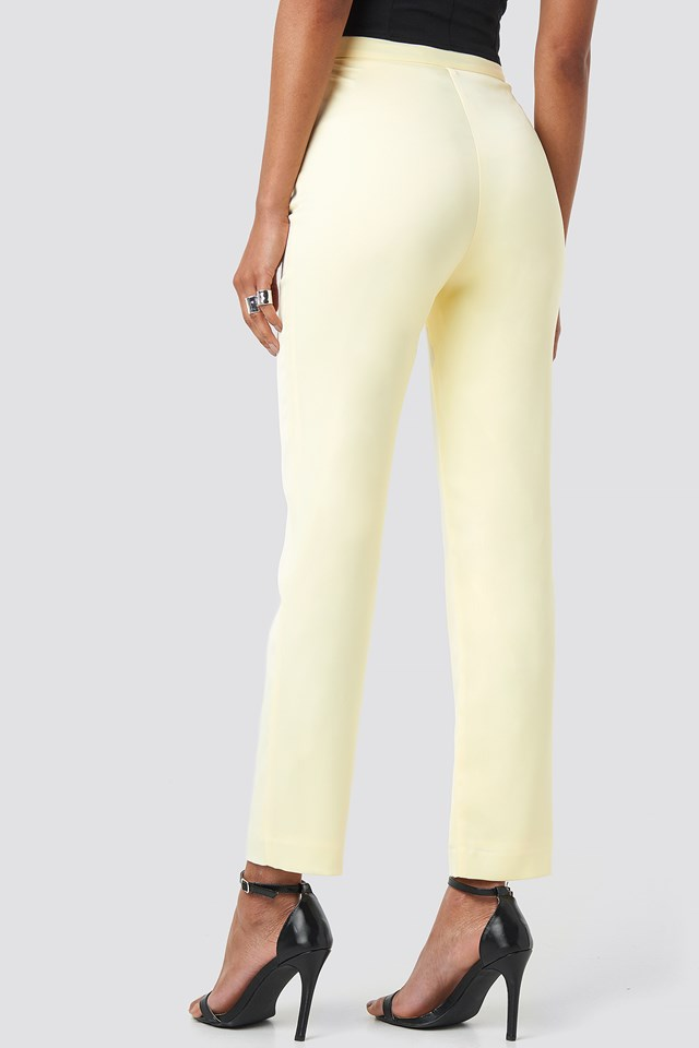 Tailored Ankle Suiting Pants Light Yellow