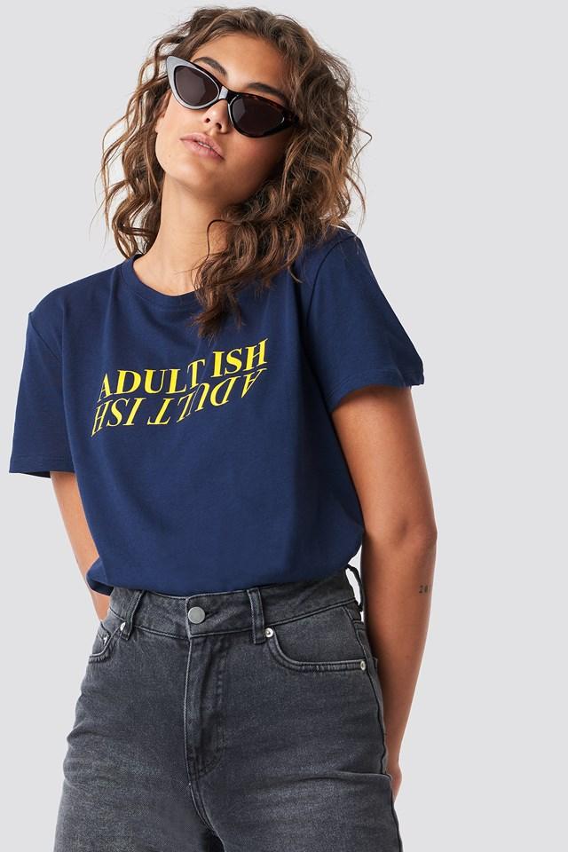 Adult Ish Tee Blue