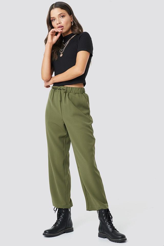 Drawstring Suit Pants Astrid Olsen x NA-KD