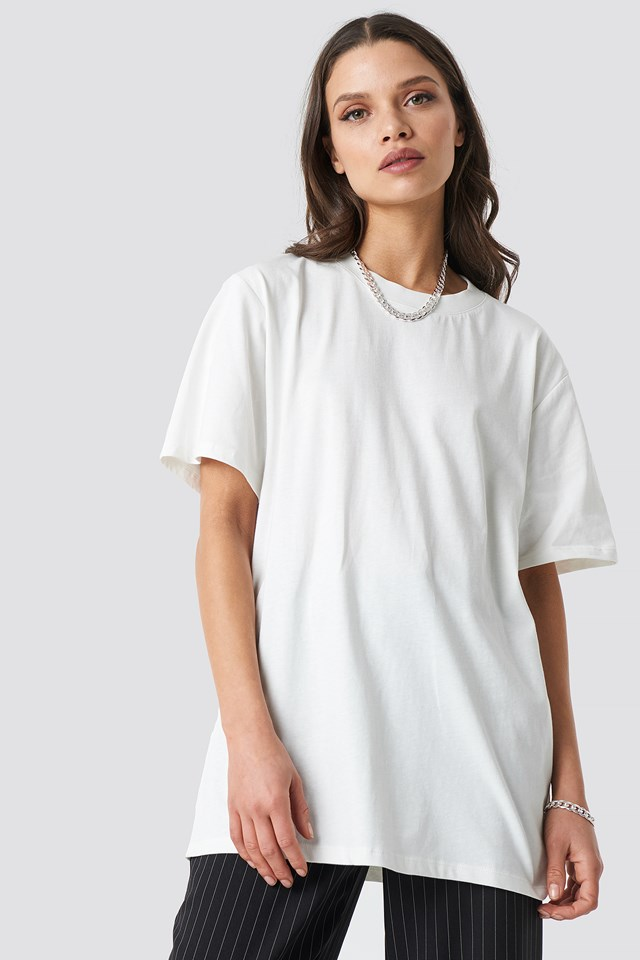 Solid Oversize Tee Ivory
