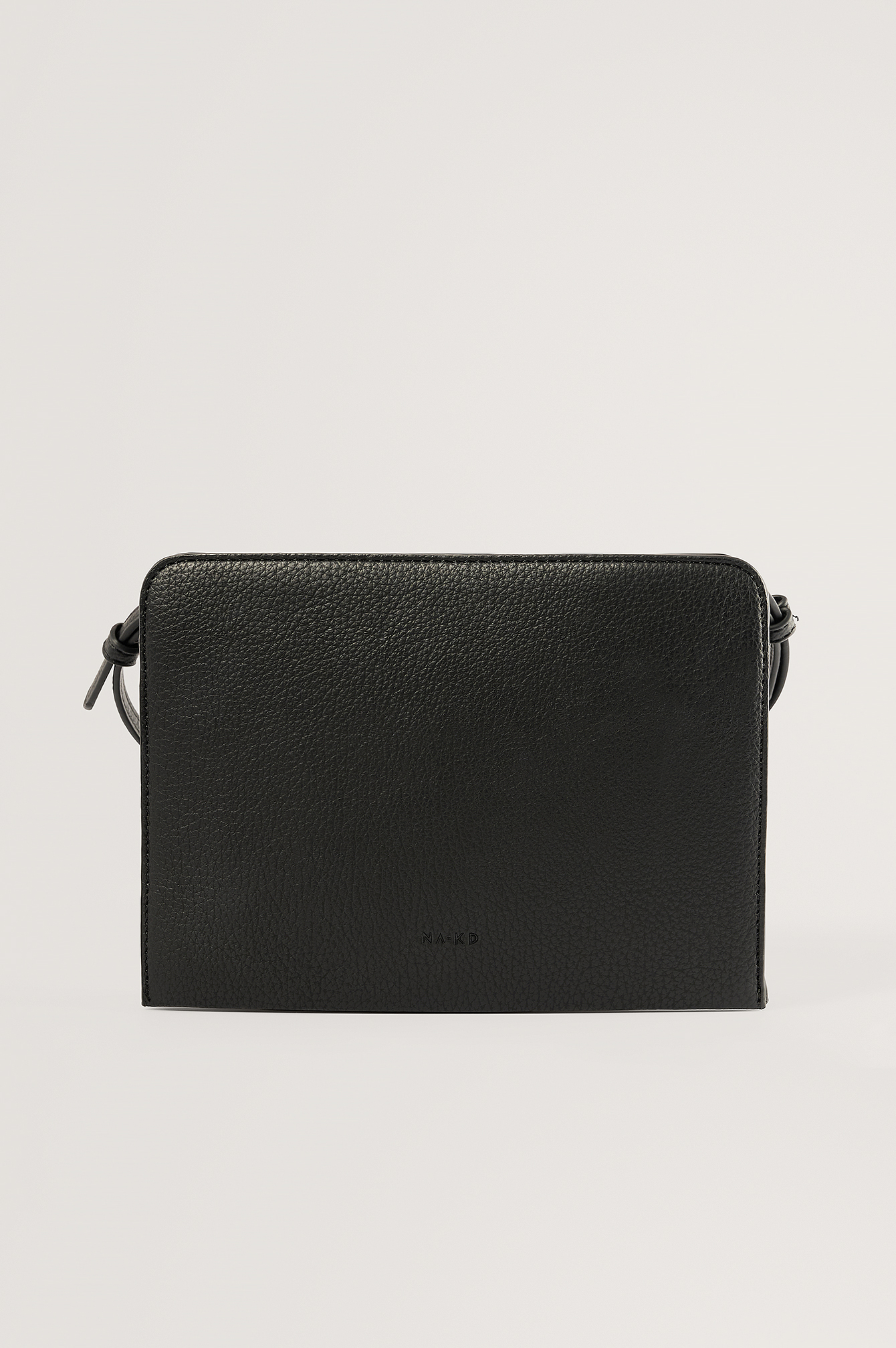 Black Recycled Basic Crossbody Bag