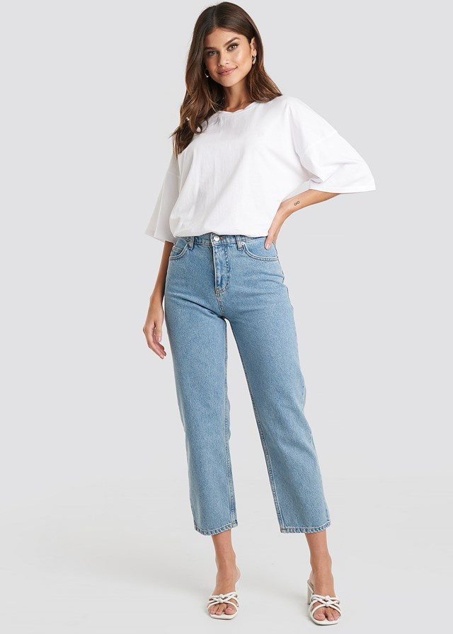 Straight Mom Jeans Light Blue