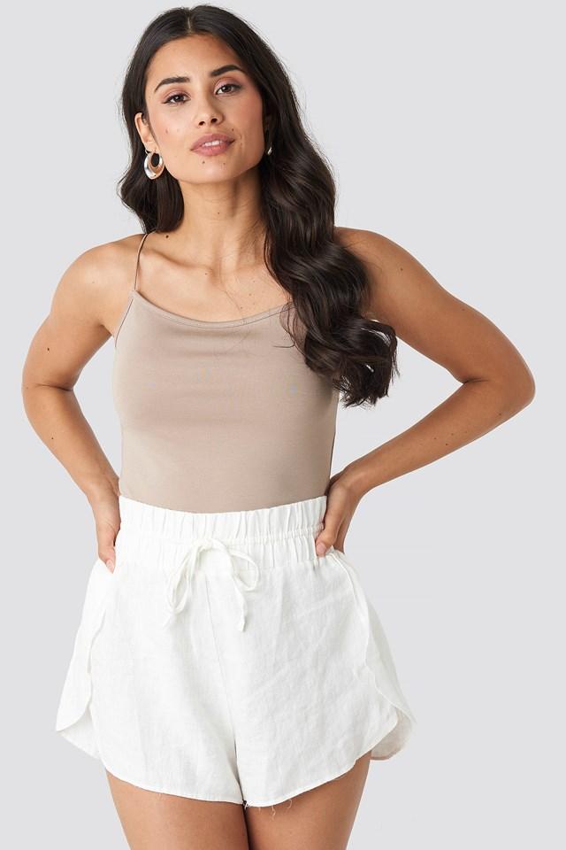 Linen Shorts White