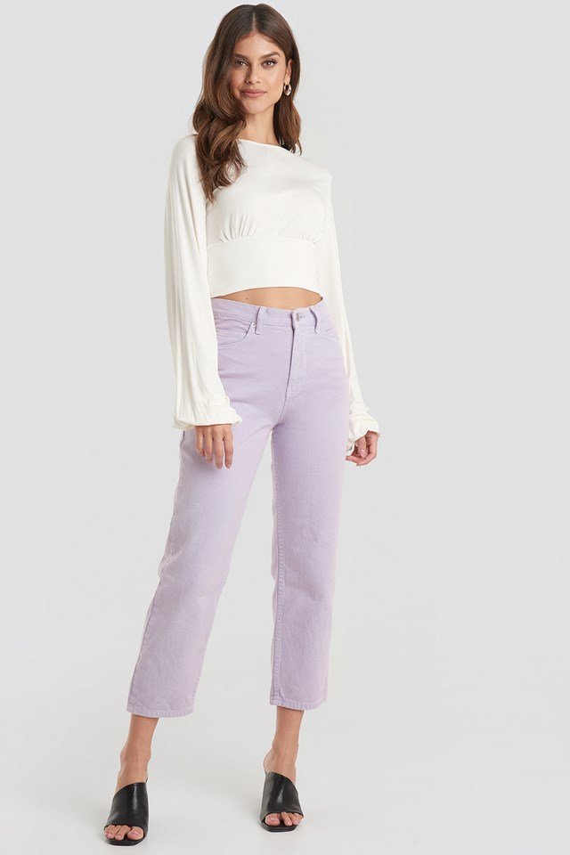 Straight Mom Jeans Lilac