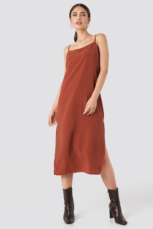 Tencel Maxi dress Tile Red