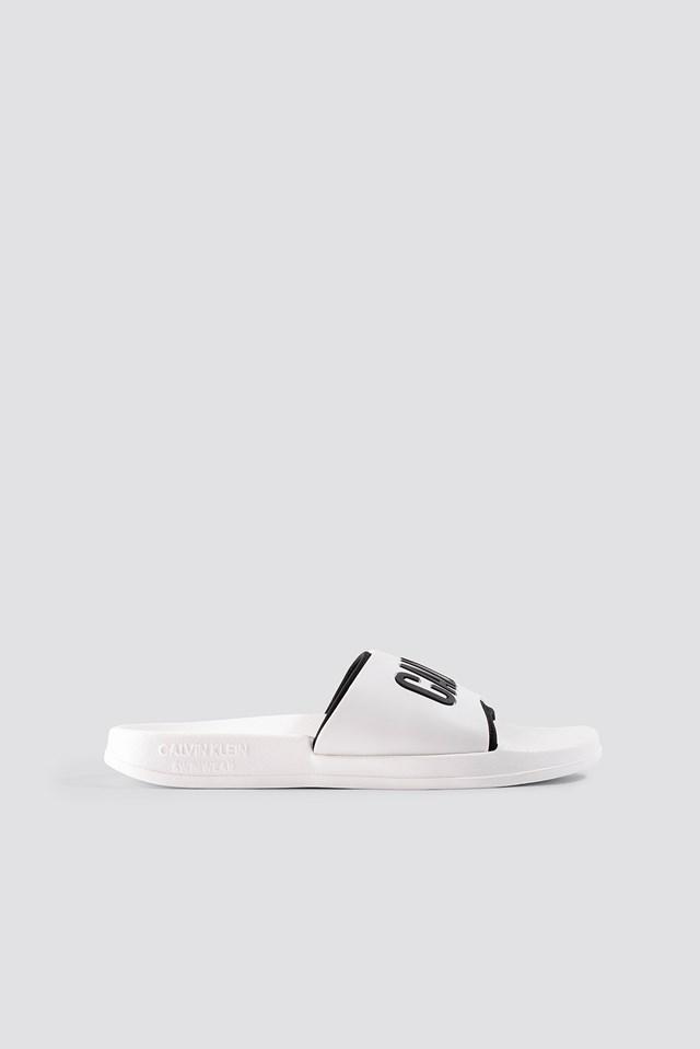 Beach Slides White/Black