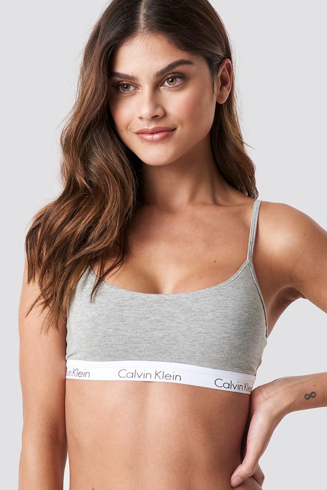 Bralette One Cotton Grey Heather