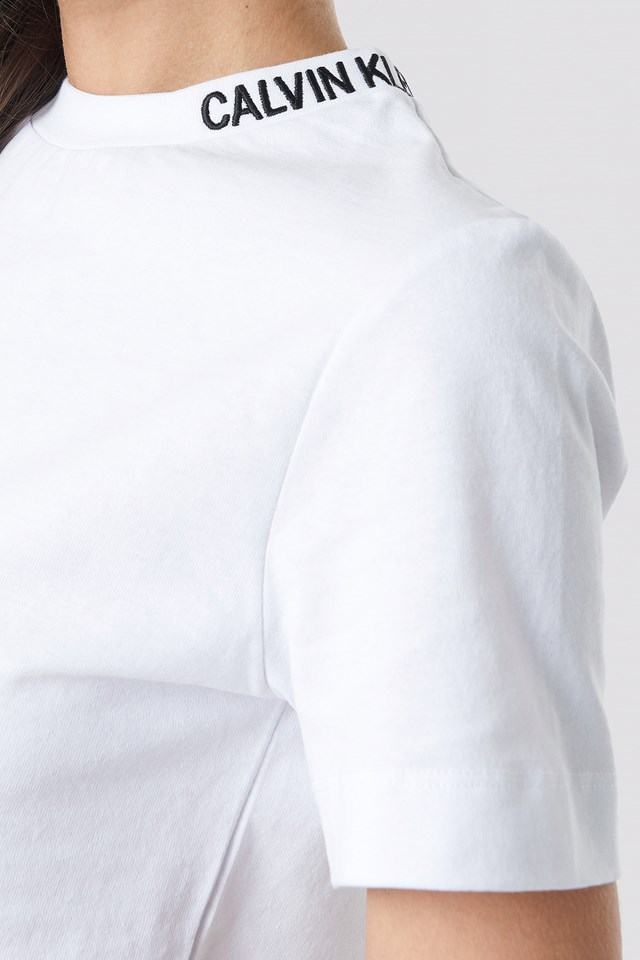 Cropped Skater Tee Bright White