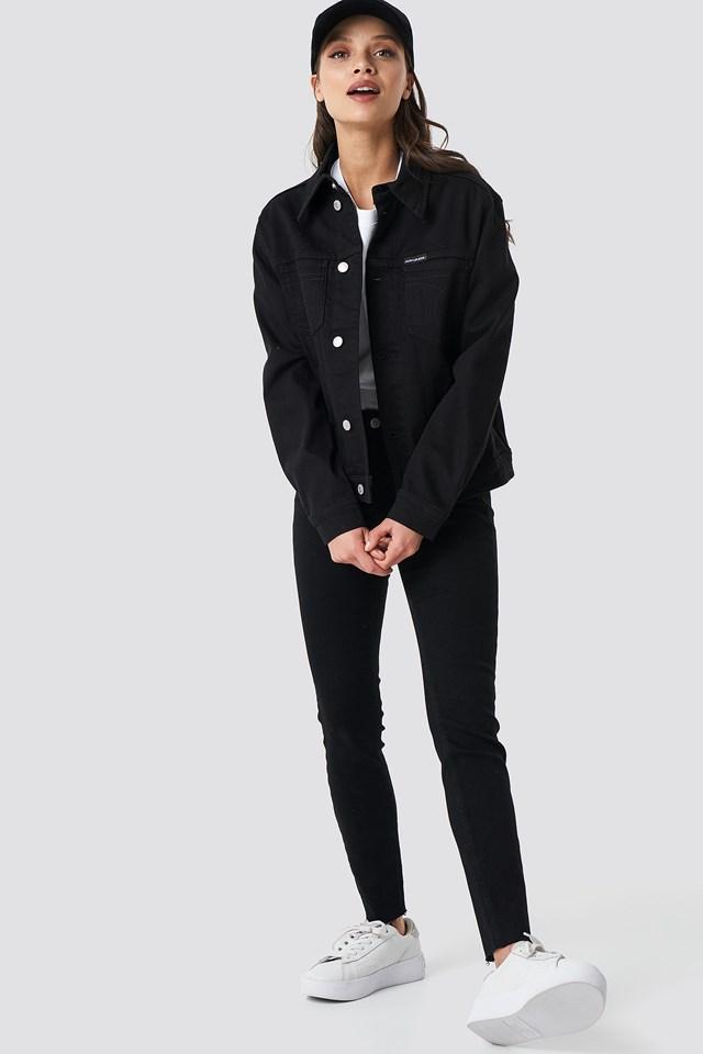 Foundation Trucker Jacket Stay Black Stretch