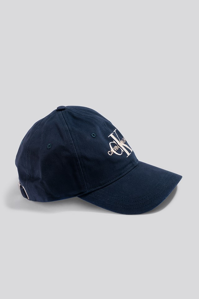 J Embroidery Monogram Cap Navy