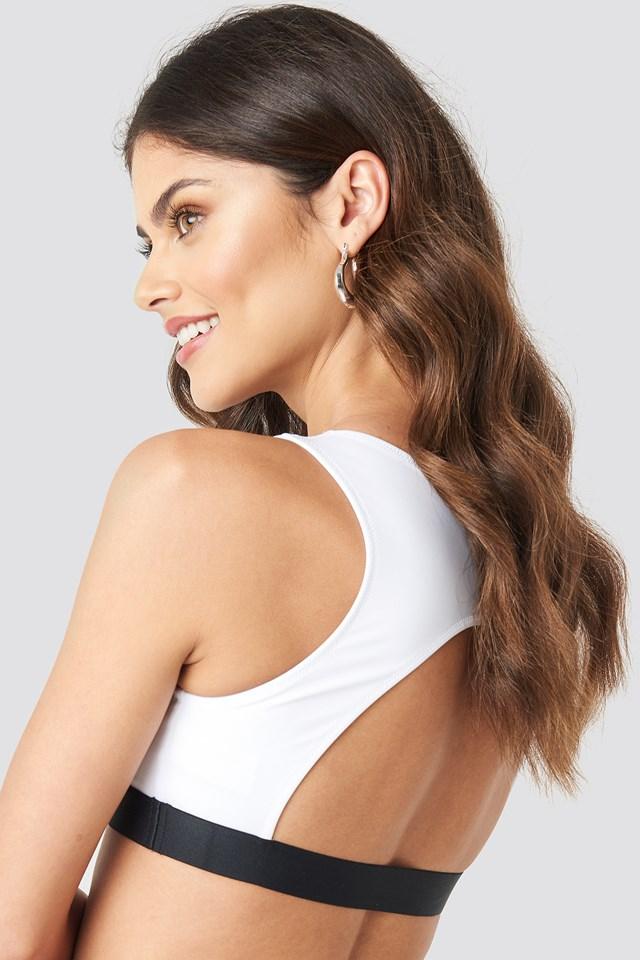 Open Back Crop Top PVH White