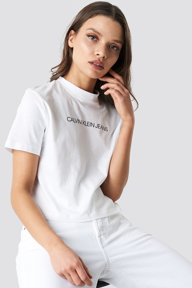 Shrunken Institutional Crop Tee Bright White