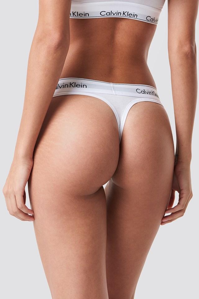 Thong Modern Cotton White