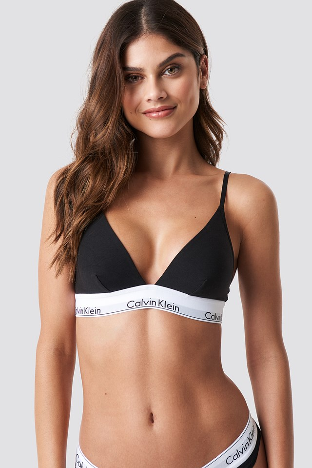 Triangle Bra Modern Cotton Black