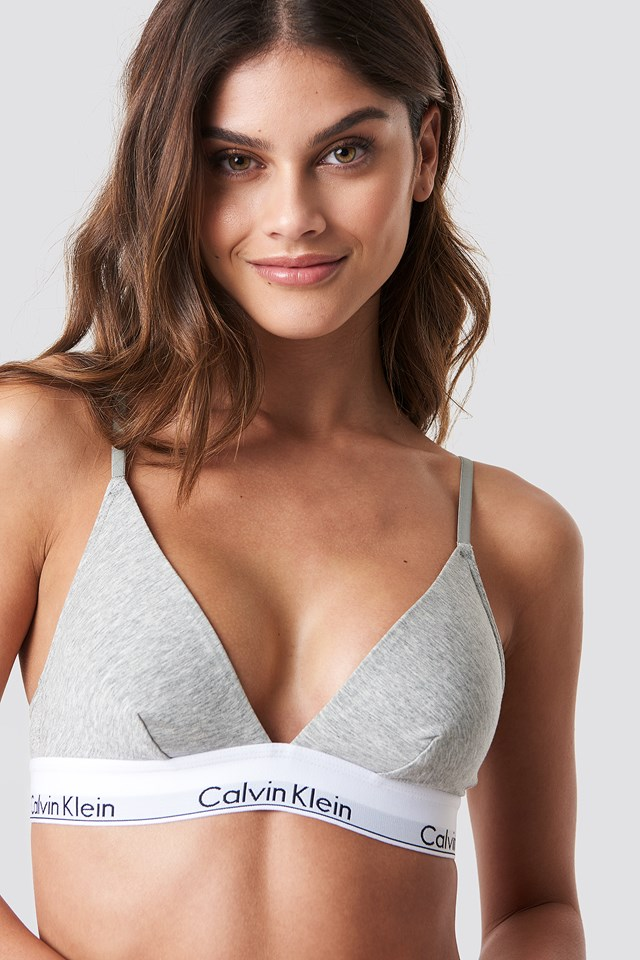 Triangle Bra Modern Cotton Grey Heather