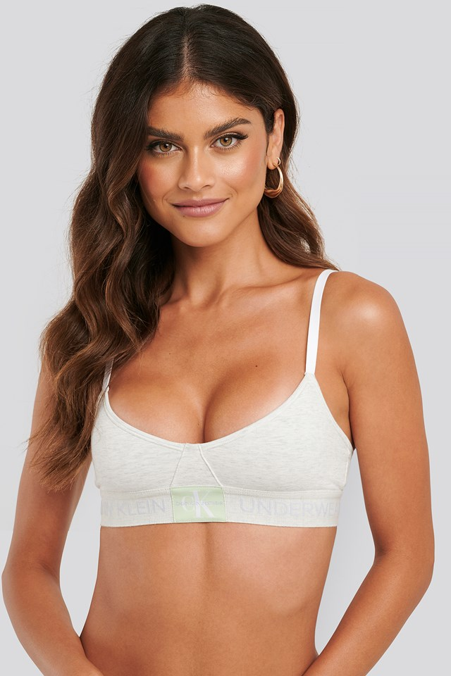 Unlined Monogram Triangle Bra Snow Heather