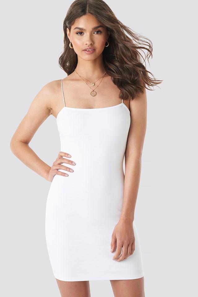 Basic Bodycon Dress White