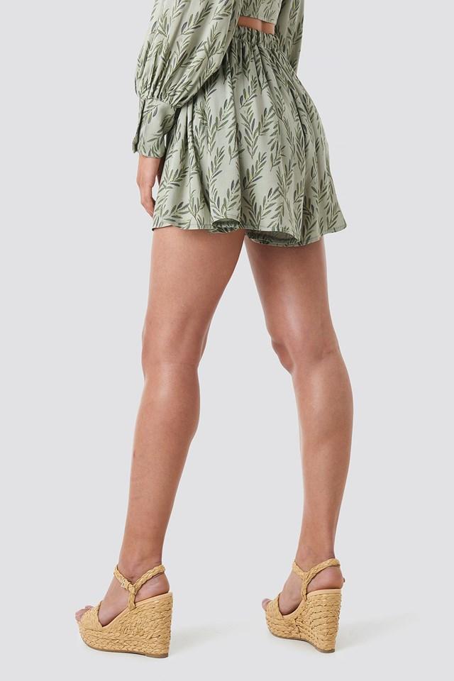Loose Fit Shorts Green