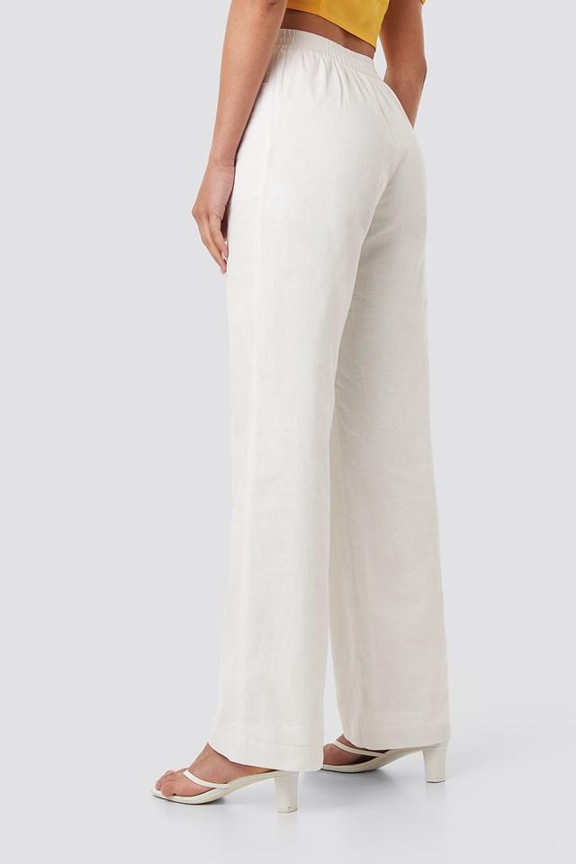 Comfy Wide Leg Pants White