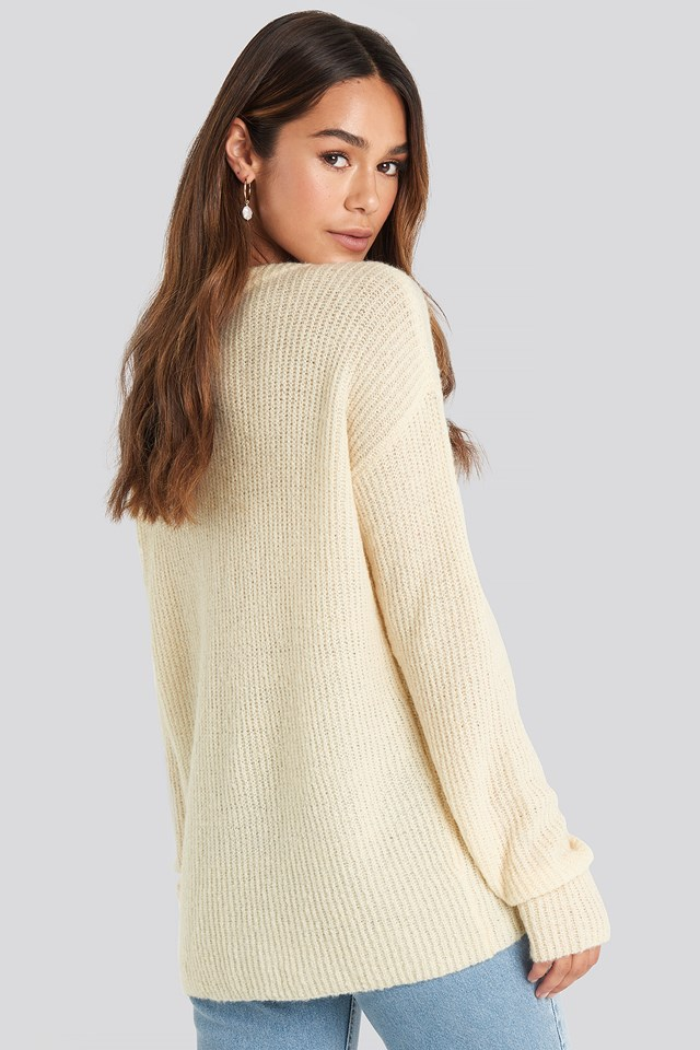 Buttoned Cardigan White