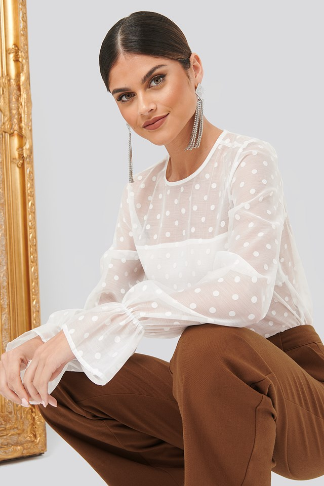 Dotted Blouse White Dots