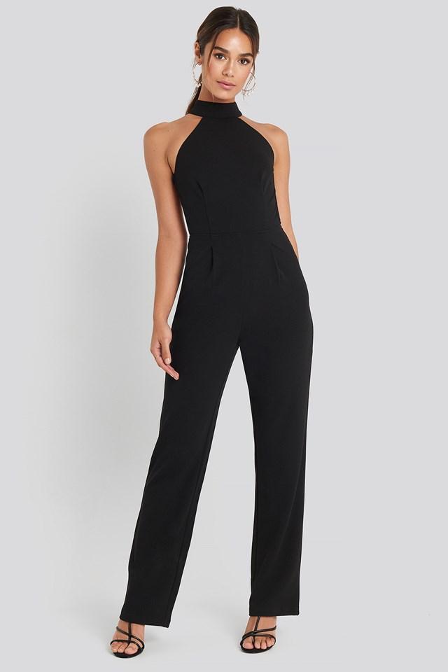 High Neck Jumpsuit Black