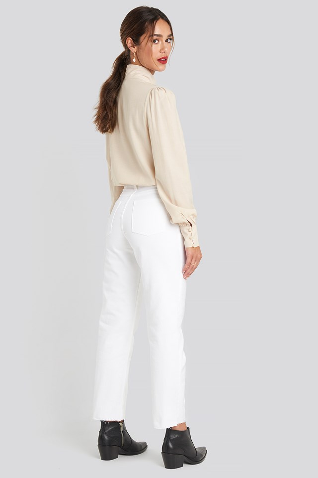 Straight Leg Jeans White