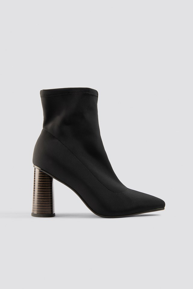 Pointy Sock Boot Black