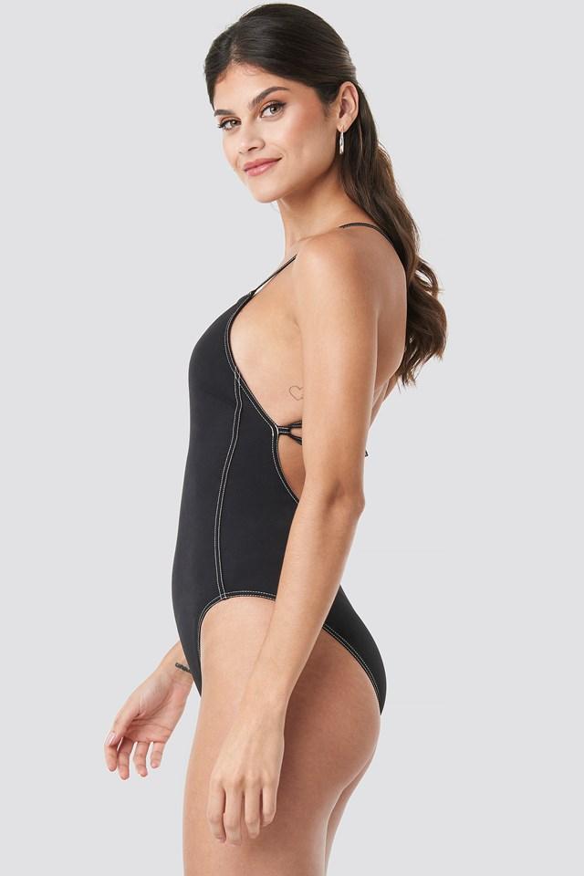 Apron One Piece Swimsuit PVH Black