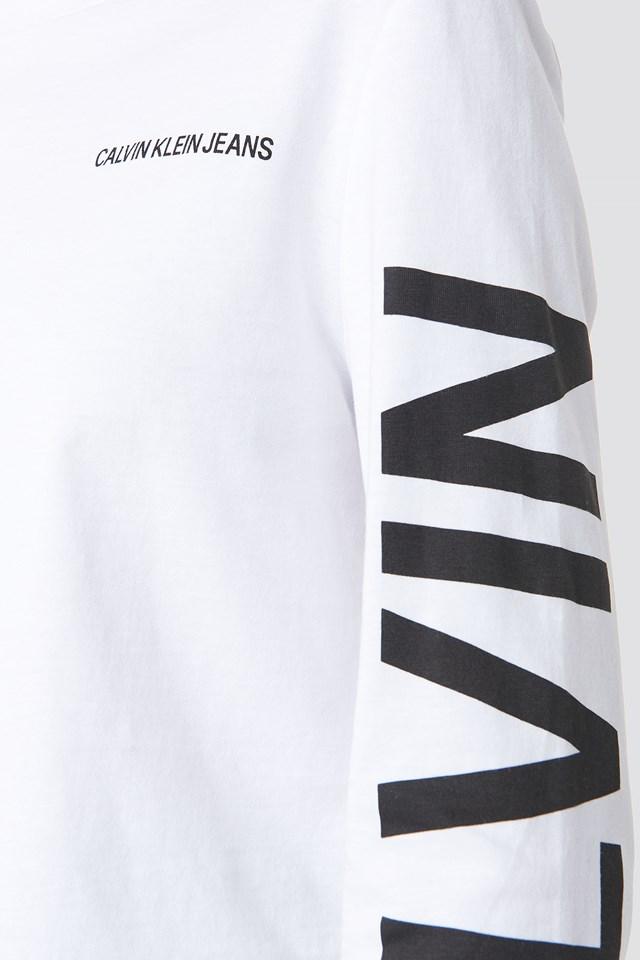 Institutional Back Logo Tee Bright White/CK Black