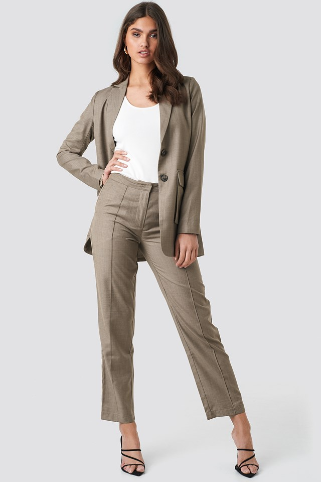 Pintuck Detail Suit Pants NA-KD Classic