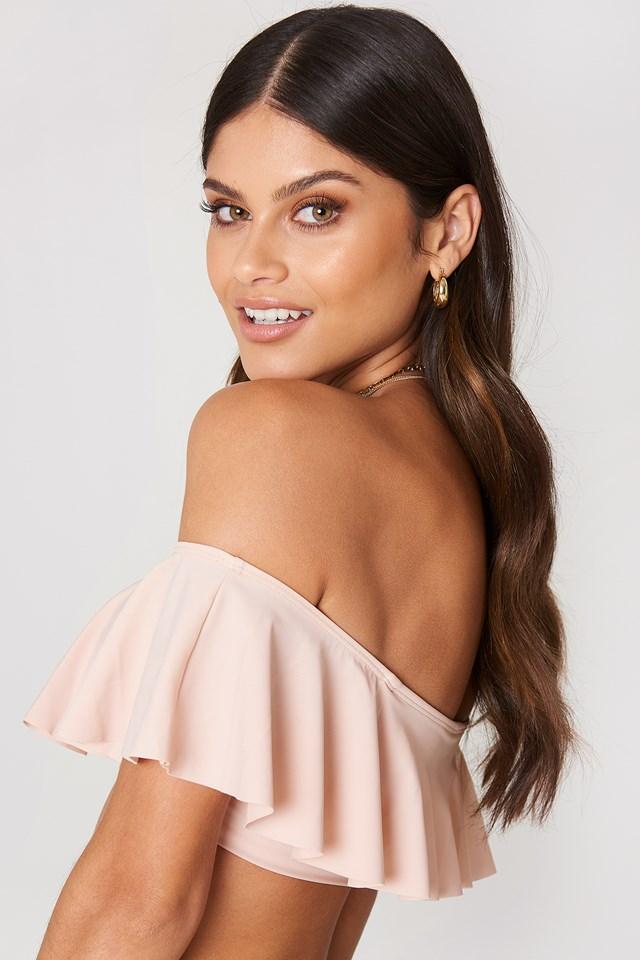 Flounce Bikini Top Pink