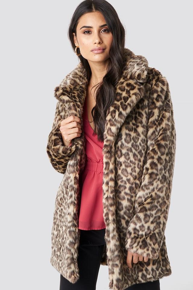 Fluffy Leo Jacket Leopard