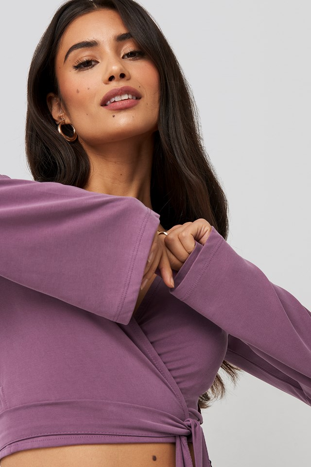 Wrap Around Top Plum