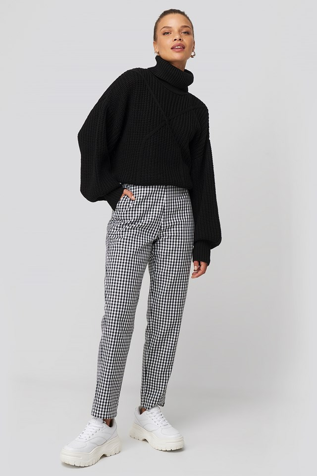 Checked Suit Pants Donnaromina x NA-KD