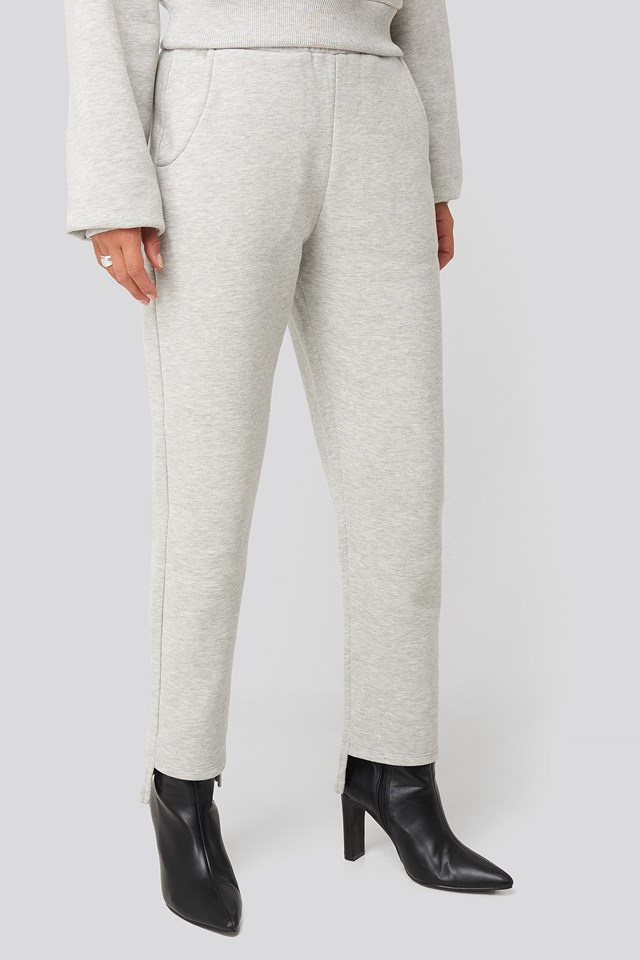 Elastic Waist Sweatpants Grey
