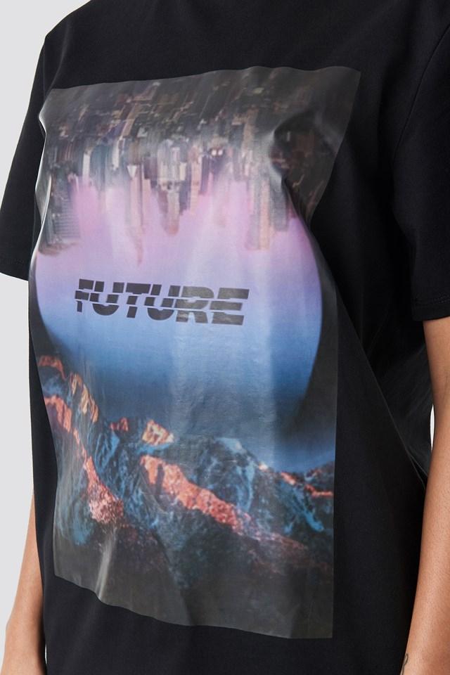 Oversized Future Tee Black