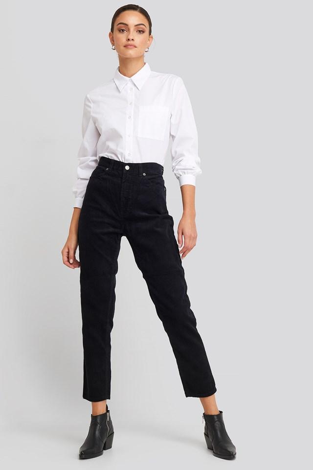 Nora Jeans Black Cord