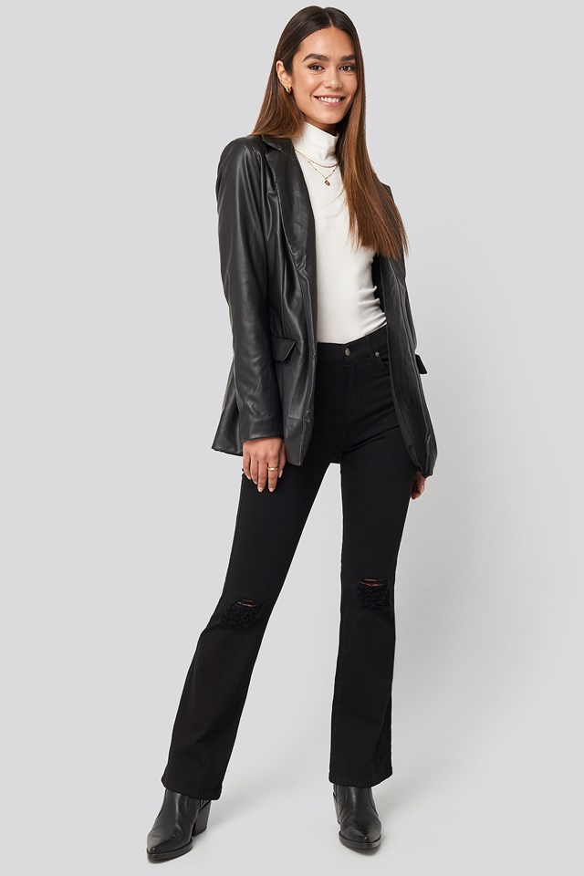 Soniq Jeans Black Ripped Knees