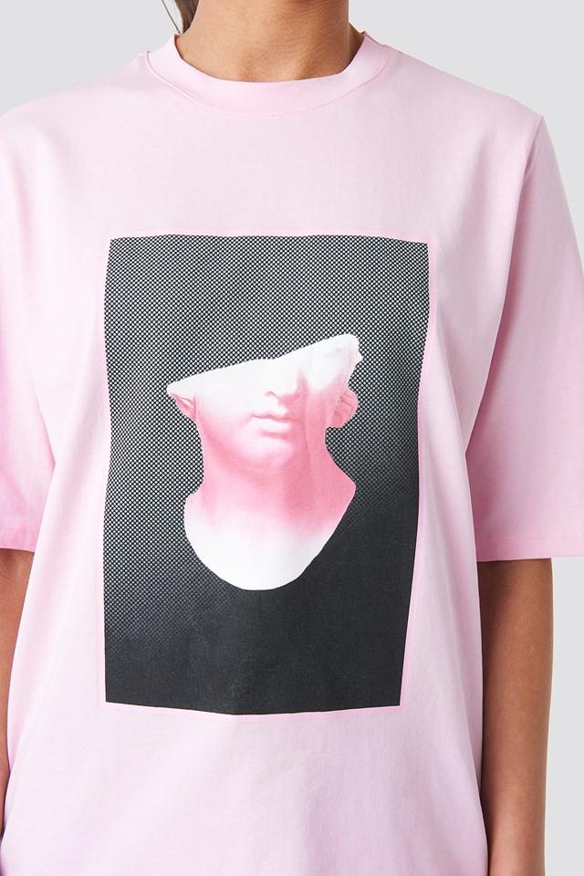 Front Print Tee Pink