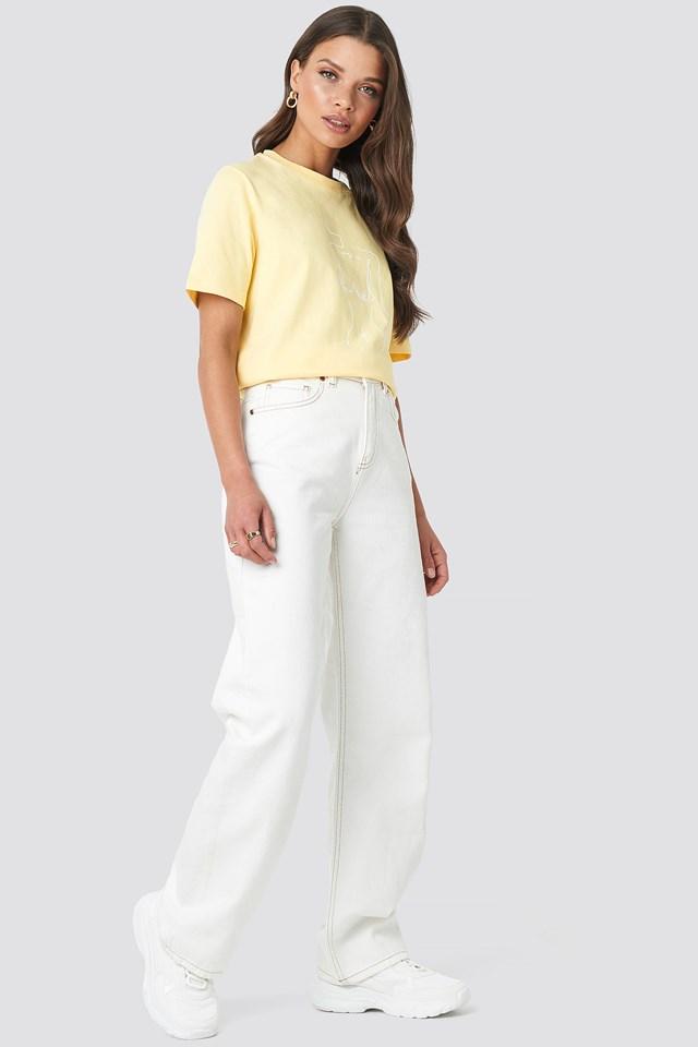 Lady Print T-shirt Yellow